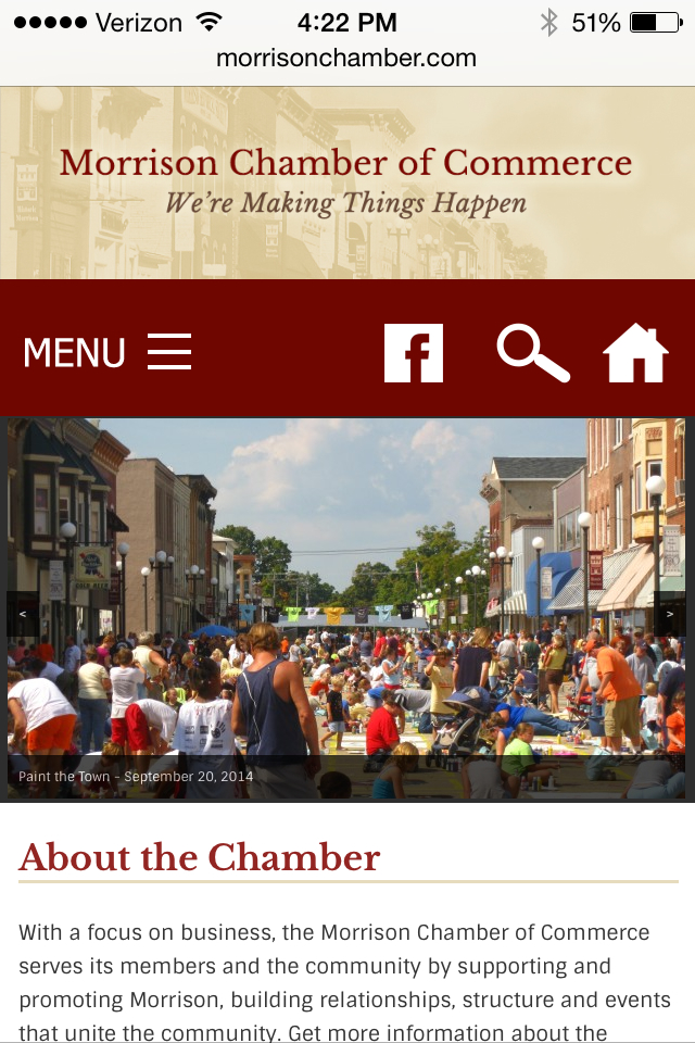 Morrison Chamber of Commerce Mobile Site