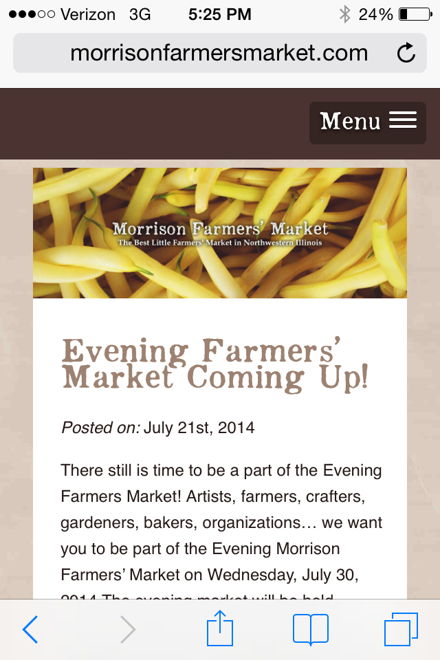 Morrison Farmers' Market - Mobile
